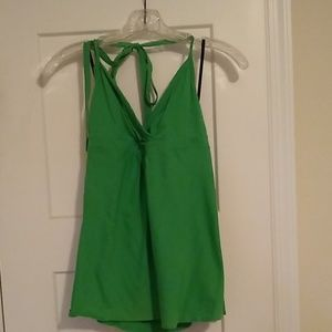 Theory Green Halter Top